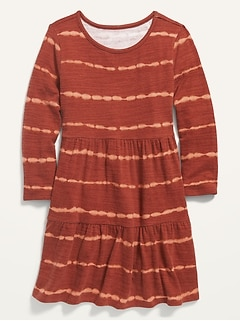 Cozy Plush-Knit Tiered Dress for Girls