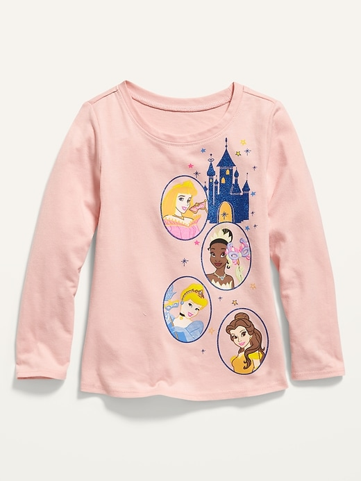 Disney© Princess Long-Sleeve Graphic Tee for Toddler Girls