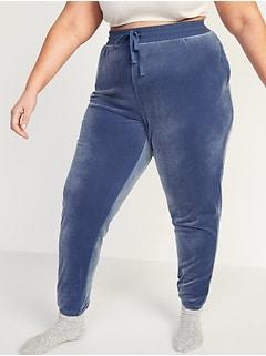 Pantalon de jogging et de détente en velours douillet, taille Plus