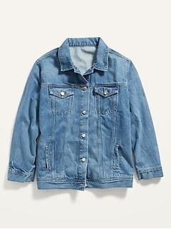 Boyfriend Light-Wash Plus-Size Jean Jacket