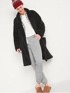 Cozy Sherpa Tie-Belt Robe for Men