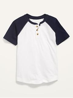 Short-Sleeve Slub-Knit Henley for Boys