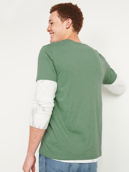 Soft-Washed Crew-Neck Short-Sleeve Tee for Men