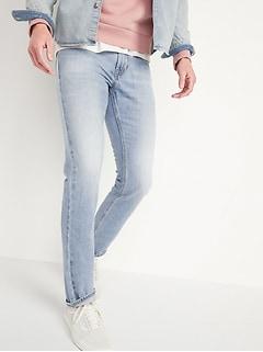 Slim Rigid Non-Stretch Light-Wash Jeans for Men