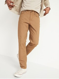 Athletic Taper Non-Stretch Twill Five-Pocket Pants for Men