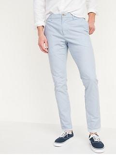 Slim Ultimate Built-In Flex Textured Chino Pants for Men