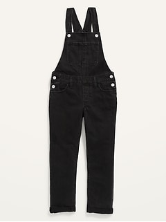 Black-Wash Jean Overalls for Girls