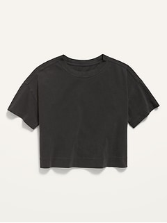 Cropped Vintage Crew-Neck Tee for Girls