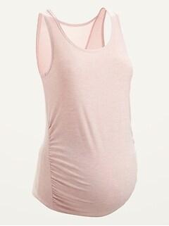 Maternity Breathe ON Mesh-Back Tank Top