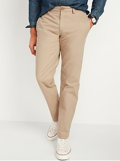 Loose Lived-In Khaki Non-Stretch Pants for Men