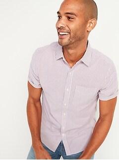 Chemise de tous les jours à manches courtes à imprimé avec Built-In Flex pour Homme