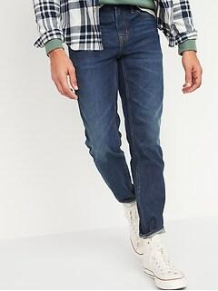 Athletic Taper Rigid Non-Stretch Dark-Wash Jeans for Men