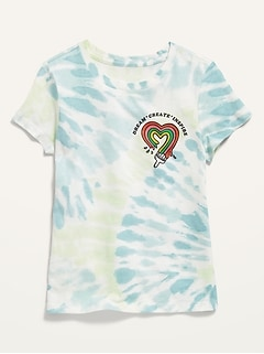 Short-Sleeve Graphic Tee for Girls
