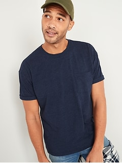 Oversized Heavyweight Pocket Tee for Men