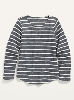 Cozy Plush-Knit Top for Girls