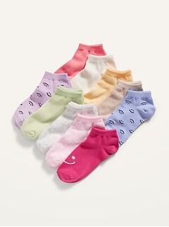 Chaussettes basses à imprimé pour Fille (paquet de 10paires)