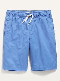 Flat-Front Twill Jogger Shorts for Boys