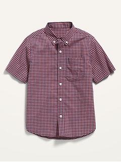 Chemise à manches courtes à poche Built-In Flex à carreaux pour Garçon