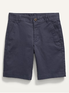 Built-In Flex Flat-Front Straight Twill Shorts for Boys