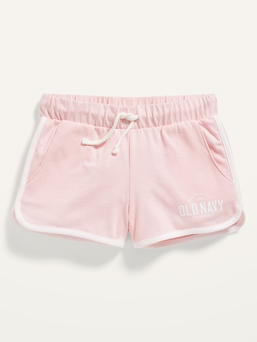 Logo-Graphic Jersey Shorts for Girls