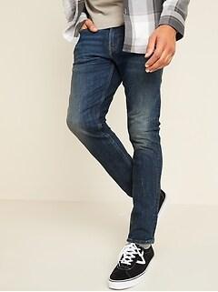 Skinny Built-In Flex Medium-Wash Jeans for Men