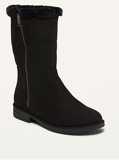 Water-Repellent Faux-Fur Lined Ankle Boots for Women
