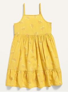 Robe-camisole évasée à imprimé, coupe ajustée et évasée pour Toute-petite fille