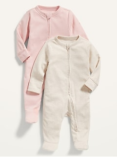 Unisex Sleep & Play One-Piece 2-Pack for Baby