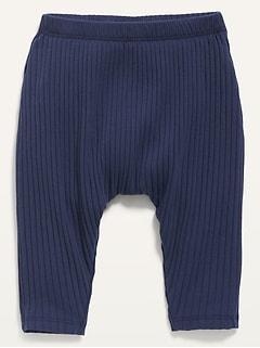 Unisex U-Shaped Rib-Knit Pants for Baby
