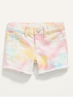 Tie-Dye Frayed-Hem Shorts for Toddler Girls