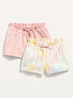 2-Pack Jersey-Knit Pull-On Shorts for Baby