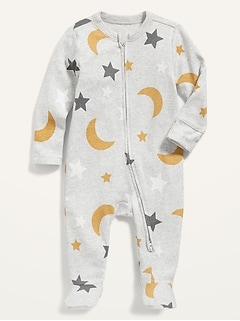 Unisex Printed Sleep & Play Footed One-Piece for Baby