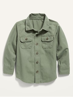 Long-Sleeve Utility Shirt for Toddler Boys