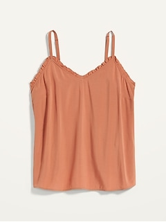 Ruffled V-Neck Cami Top for Women