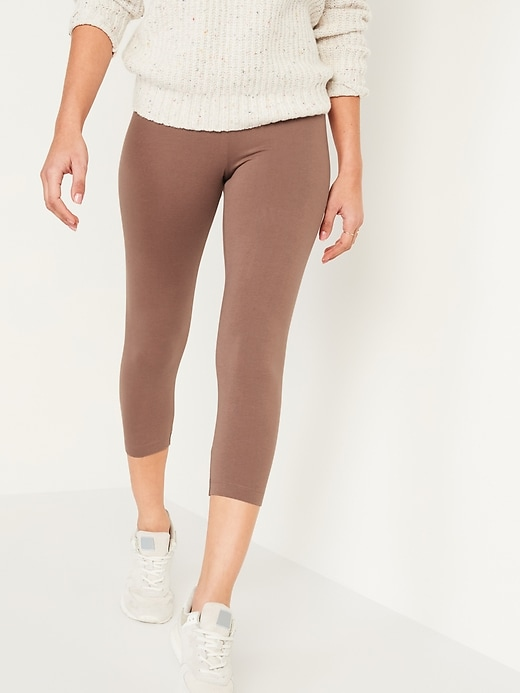 High-Waisted Cropped Leggings for Women