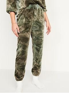 Cozy Velour Jogger Lounge Sweatpants for Women