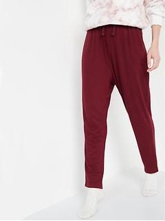 Pantalon décontracté en tricot isotherme douillet à entrejambe bas pour femme