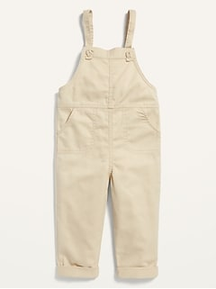 Relaxed Knotted-Strap Overalls for Toddler Girls