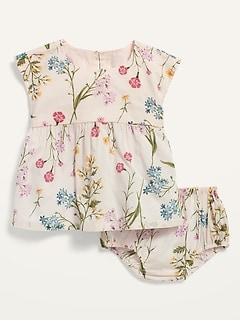 Ensemble avec haut et culotte bouffante à fleurs pour Bébé