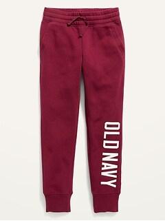 Pantalon en coton ouaté de ville avec logo pour fille