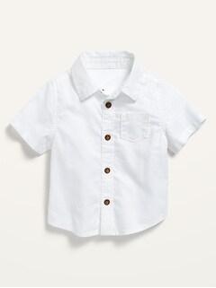 Chemise à manches courte boutonnée à l'avant avec poche pour Bébé