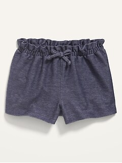French Terry Pull-On Shorts for Baby