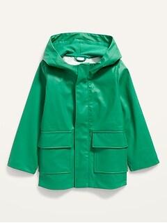 Hooded Dino-Critter Rain Jacket for Toddler Boys