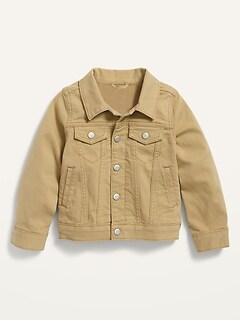 Pop-Color Jean Jacket for Toddler Boys