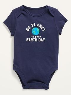Cache-couches à manches courtes le Jour de la Terre pour Bébé