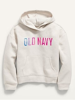 Vintage Logo-Graphic Pullover Hoodie for Girls