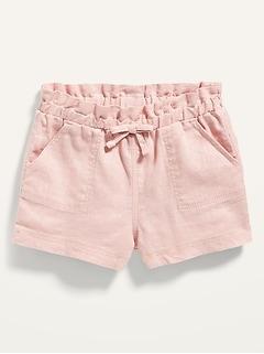 Linen-Blend Pull-On Shorts for Baby
