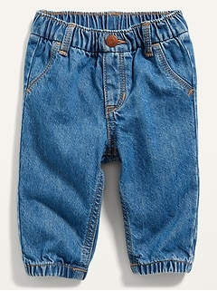 Soft Pull-On Jean Joggers for Baby