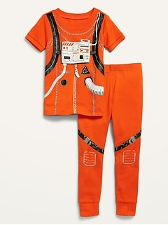 Unisex Astronaut Costume Pajama Set for Toddler & Baby