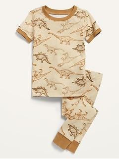 Unisex Short-Sleeve Pajama Set for Toddler & Baby